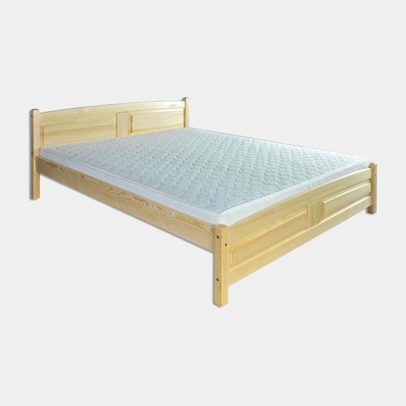 Drevená manželská posteľ z borovicového dreva