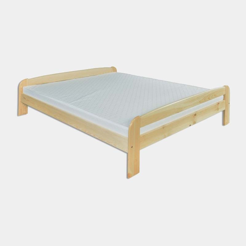 Lacná drevená manželská posteľ