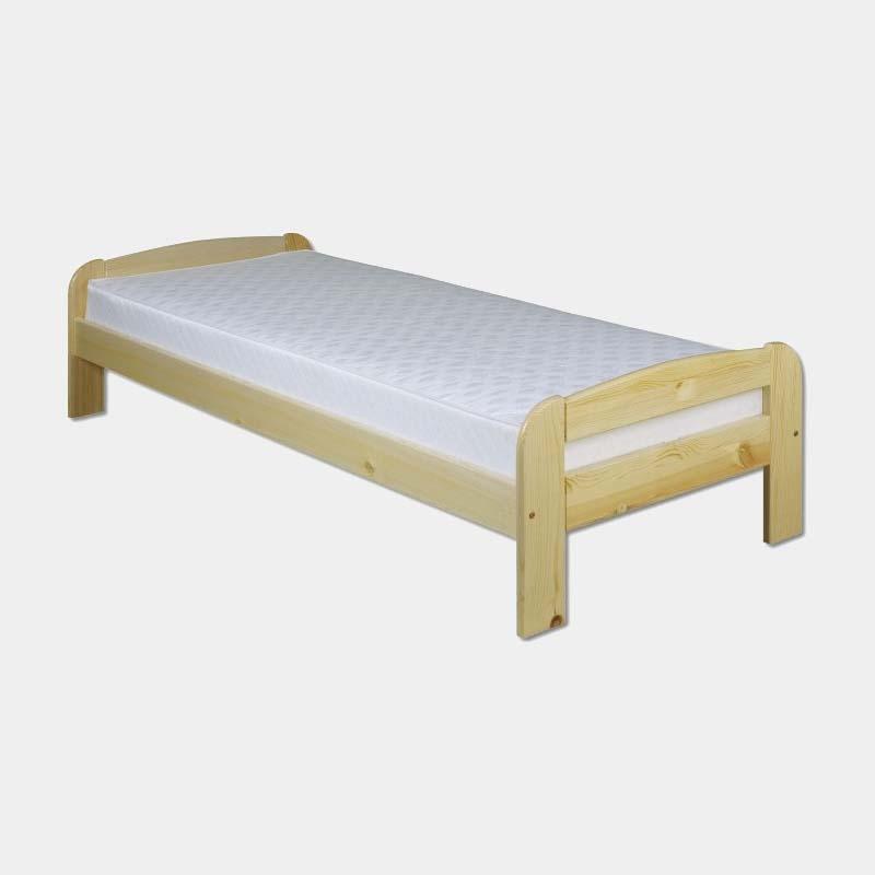 Lacná drevená jednolôžková posteľ