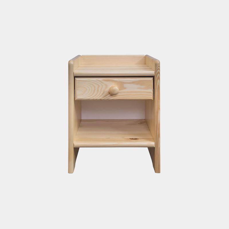 Lacný nočný stolík z masívu