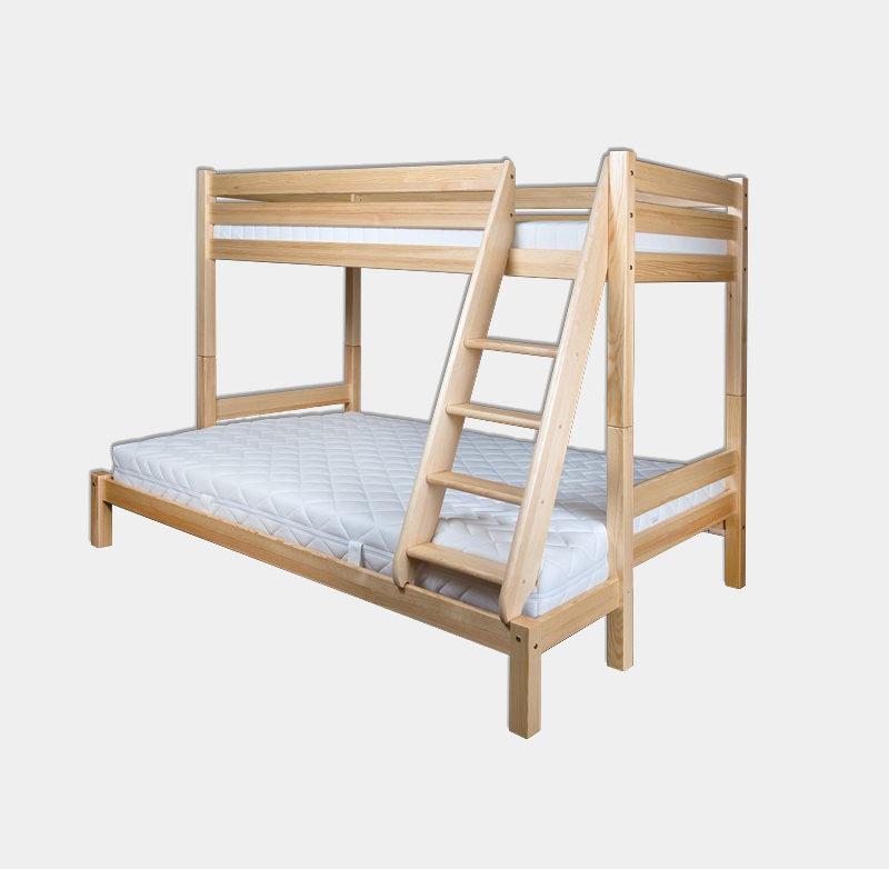 Poschodová posteľ z masívu