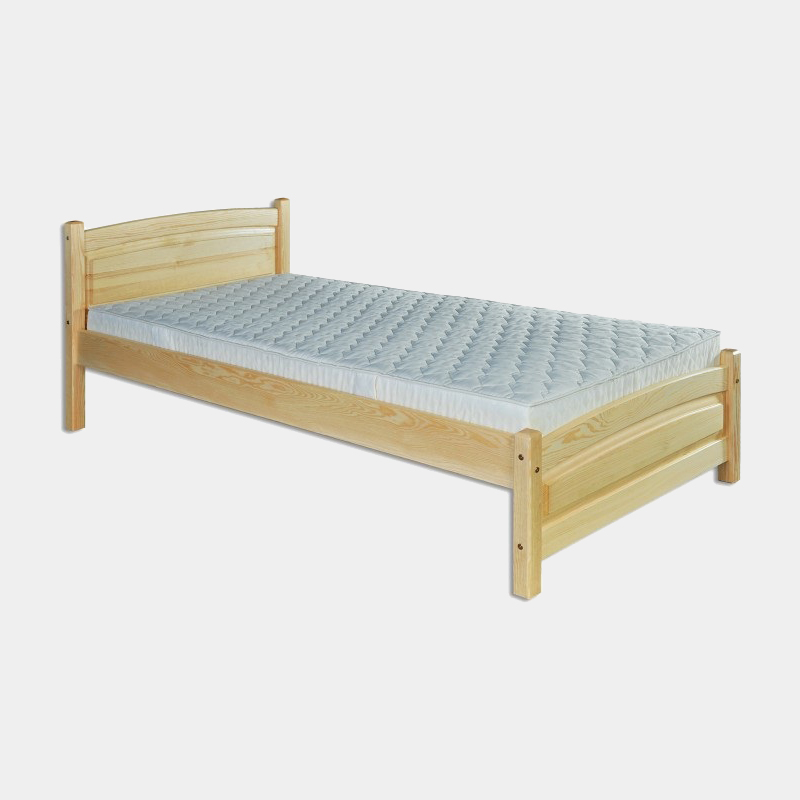 Jednolôžková drevená posteľ s roštom