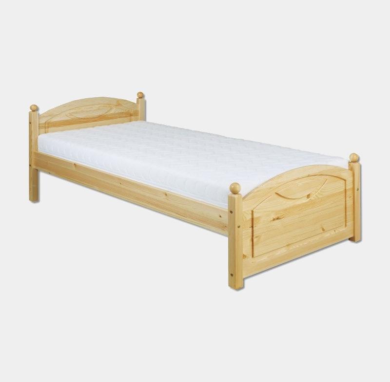 bc69b5ab4e76 Jednolôžková posteľ z masívu s roštom