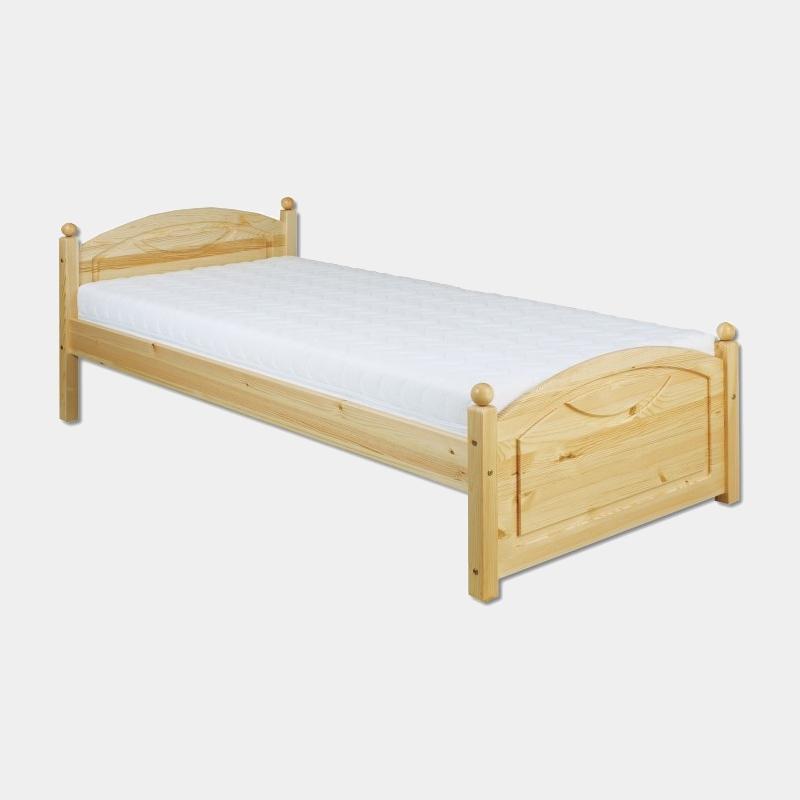 Jednolôžková posteľ z masívu s roštom