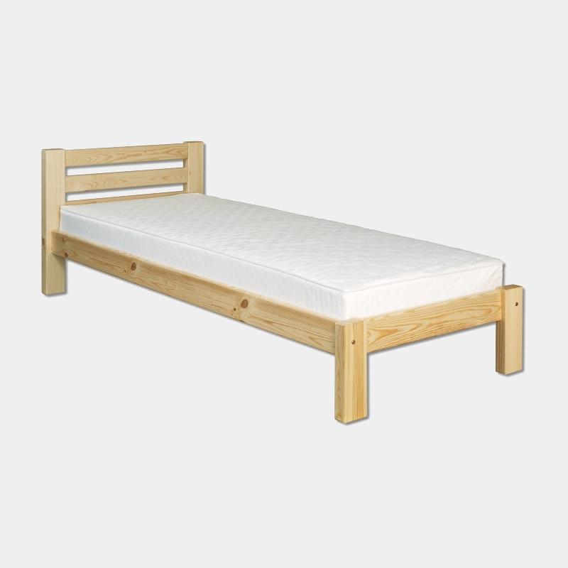 Drevená posteľ s roštom jednolôžková