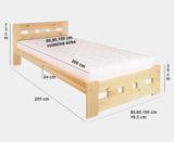 Drevená posteľ LK145 rozmer